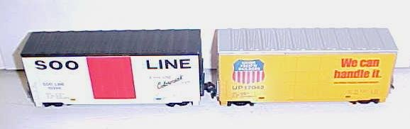 Train Cars HO Scale SOO LINE & UNION PACIFIC Box Cars