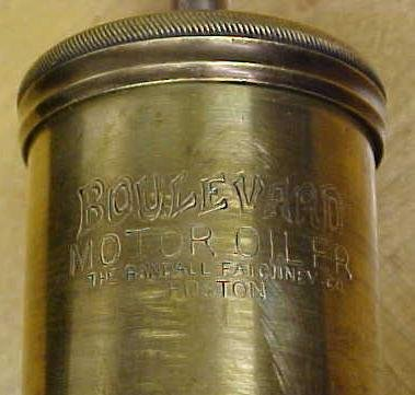 FAICHNEY Motor Oiler Grease Gun Brass BOULEVARD Rare!
