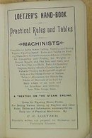 Loetzer's Hand-book for Machinists 1892 First Edition