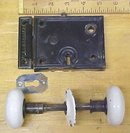 Antique Passage Door Lock Set Flush Mount