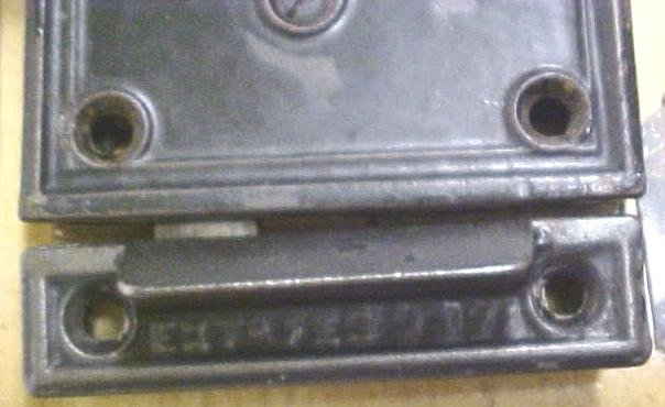 Antique Passage Door Lock Set Flush Mount