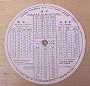 Lufkin Round Screw Thread Calculator 1935