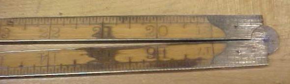 Lufkin Folding Rule Brass Bound No. 3881 (66 3/4)