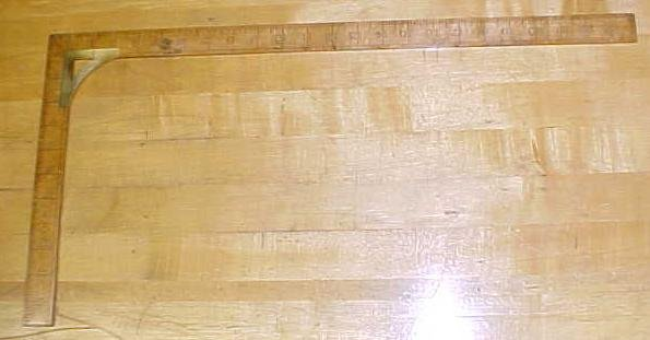 Antique Taylors Square Wood & Brass 24 inch