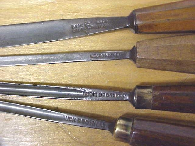 Buck Brothers Carving Chisel Set of 4 Gouges