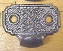 Antique Drawer Pulls Cast Iron Ornate Design Set of 8