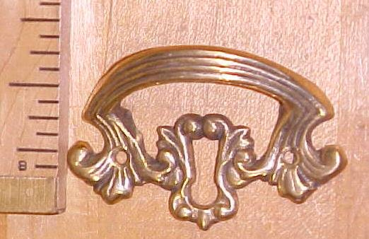 Antique Drawer Pulls Ornate Hardware Brass Key Hole