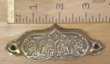Antique Drawer/Bin Pulls Ornate Hardware Brass