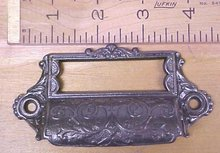 Antique Drawer Pulls Ornate Hardware Cast Iron Filing Cabinet