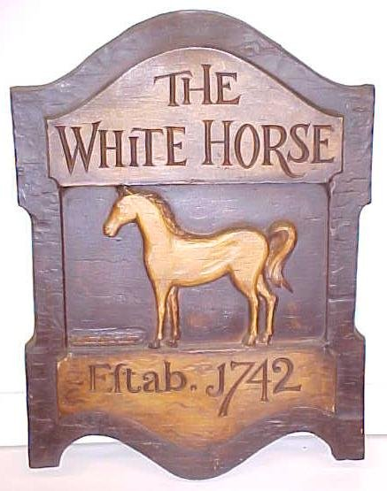 The White Horse Established 1742 Sign Signed