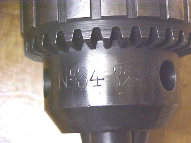 Jacobs Drill Chuck 5/64-1/2 Cap. No. 34 w/ Key