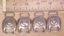 Antique Horse Harness Brass Buckle Tack Bullseye