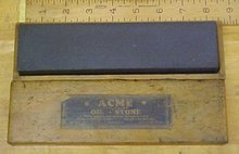 Acme Oil Stone w/ Wood Box Fine/Course