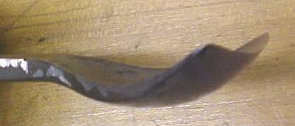 Antique Fish Tail Bent Front Gouge Chisel 1.6 inch
