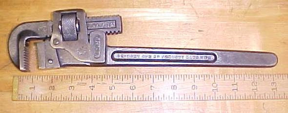 Trimont Pipe Wrench 14 inch Trimo 1916 Patent