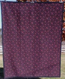 Quilt Wholecloth Twin Size 60 x 75 inch Forget Me Not