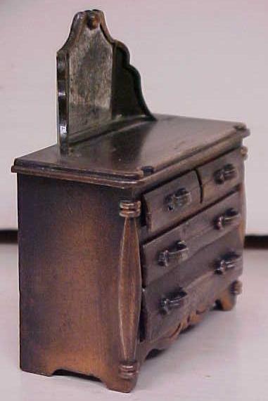 Durham Doll House Dresser 4 Drawer Diecast Metal