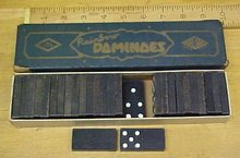 Rainbow Dominoes Vintage w/Original Box