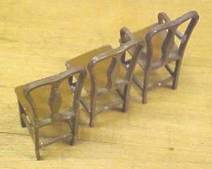 Tootsie Toy Chairs (3) Doll House Diecast