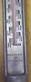 Farmers Diary Thermometer For Cheese Antique