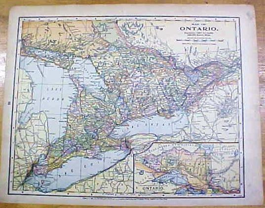 Antique Map Mexico Ontario 1902 Crowell
