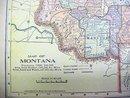 Antique Map Montana/Utah 1902 Crowell