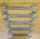 Indestro Wrench Open Ended Set of 5 Antique