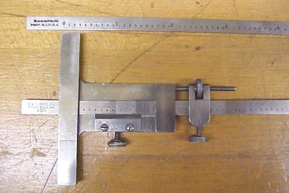 Brown & Sharpe Vernier Depth Gage No. 600 Gauge w/Case