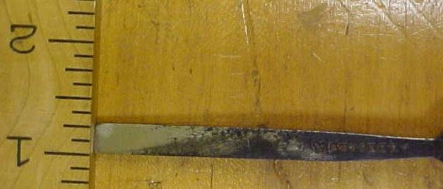 Butcher Tanged Firmer Chisel 9/32 inch