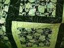 Quilt Batik King 102 x 102 Limes Blacks Modern