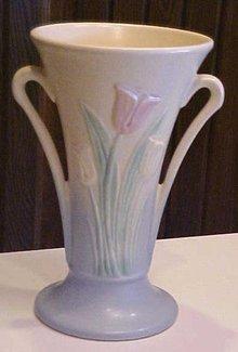 Hull Vase Sueno Tulip 100-33-8 inch Side Handles