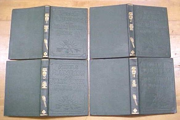 Audels Plumbers & Steam Fitters Guide Set 1925 Rare!