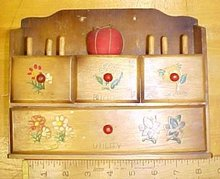 Sewing Notions Cabinet w/Drawers Vintage