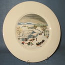 Atlas China Grandma Moses Catching the Thanksgiving Turkey dinner plate