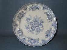 Pitcairns Limited Asiatic Pheasant blue dinner plate