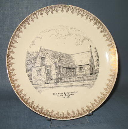 First Italian Presbyterian Church, Chester, Pennsylvania souvenir plate