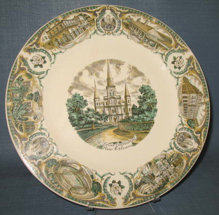 St. Louis Cathedral, New Orleans souvenir plate