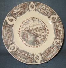 Kansas City Centennial souvenir plate
