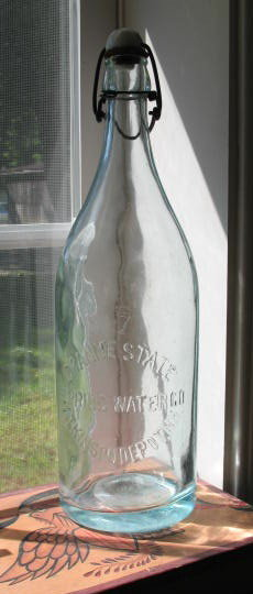 Granite State Spring Water, Atkinson Depot, NH embossed bottle