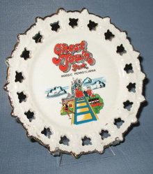 Ghost Town Park, Moosic, Pennsylvania souvenir plate