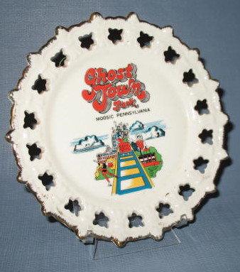 Ghost Town Park, Moosic, Pennsylvania souvenir plate