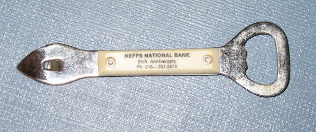 Neffs (PA) National Bank 55th Anniversary can/bottle opener