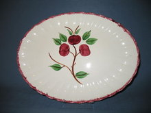 Blue Ridge Pottery Beaded Apple large oval platter