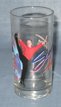 Smucker's Stars on Ice Scott Hamilton glass tumbler