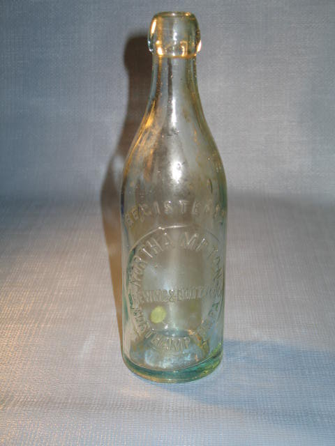Northampton Brewing and Bottling Co., Northampton PA embossed beverage bottle