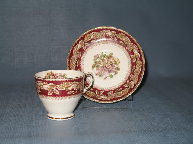 Tuscan Fine English Bone China Bridal Rose cup and saucer