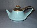 Modern China Co. Sebring, Ohio 22 KT. gold trimmed blue teapot