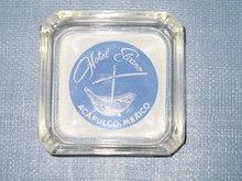 Hotel Elcano Acapulco, Mexico glass ashtray