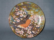 Royal Windsor Southern Living Gallery Songbirds of the South American Robin collector's plate