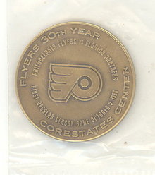 Philadelphia Flyers Inaugural Season Core States Center medallion